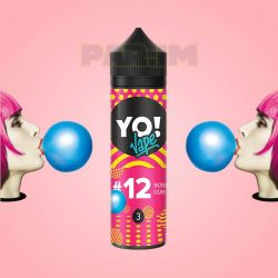 YO VAPE 100ml №12 Bubble Gum 3mg