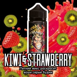 FRANKLY MONKEY BLACK Kiwi & Strawberries 3mg 120ml